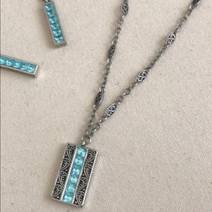 Premier Designs Jewelry - Beautiful turquoise & silver necklace & earrings